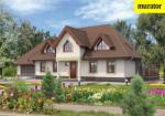 Проект одноэтажного дома с мансардой  - Муратор Ц20